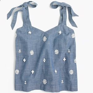 Jcrew embellished top